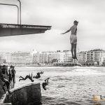 284 - Zarautzeko portuan saltoka