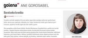 Ane  Gorosabelen  artikulua  Goienan
