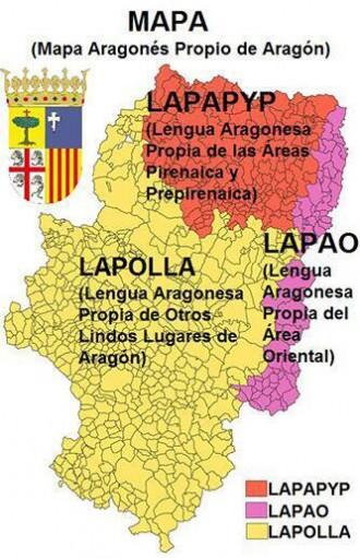 Aragoiko hizkuntzen mapa